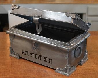 Mount Everest Box - Everest Medicine Chest - Replica Antique Metal Box - Metal Container -