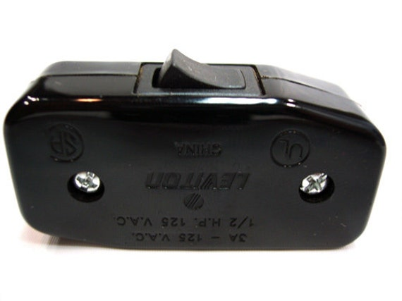 Cord Switch - Black - Leviton Inline Feed-Thru Switch - Best Switch  available - Best Quality - Best price