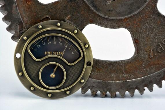 steampunk pressure gauge