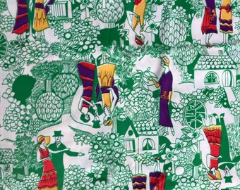 70s triacetate fabric, green, apparel