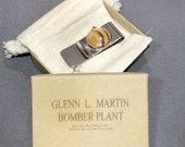 Historical Money Clip made from wood brick flooring Glenn L. Martin Bomber Plant Active