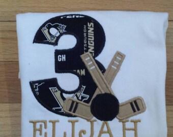 Hockey themed Birthday Shirt