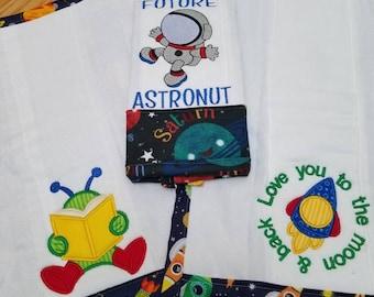 Customized baby burp cloths