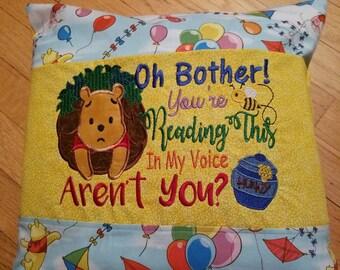 Honey Bear Book pillow