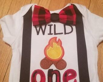 Custom Wild One birthday shirt