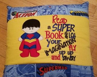 Custom Super Hero Book Pillow