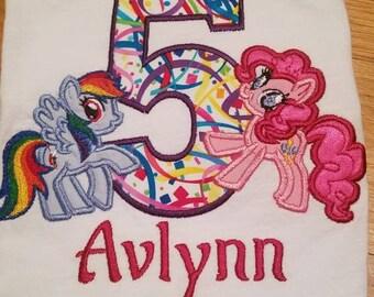 Custom pony birthday shirt