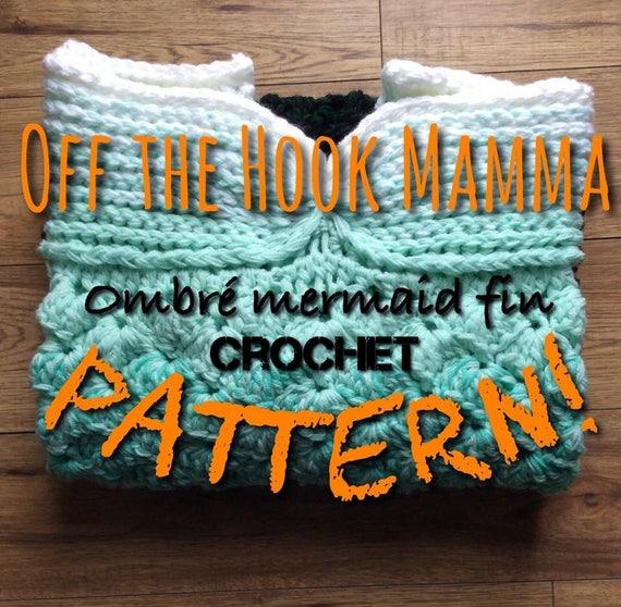 Extra Large Crochet Pattern Mermaid Fin Blanket Original Etsy