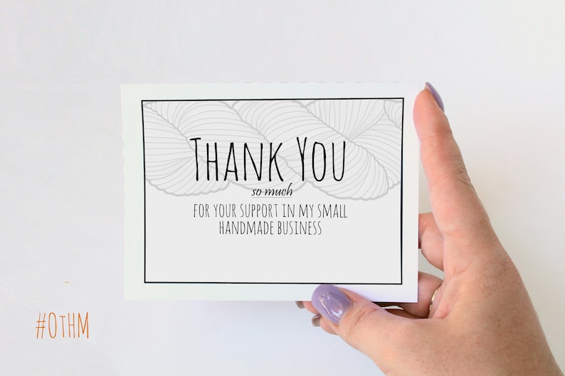 thank you cards for handmade business pdf printable