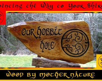 ONE RING to Rule Them All Fantasy Lord of the Rings Tolkien LOTR Movie Book Sign Hand Carved Routed Painted Hobbitton Shire letters 818KIS