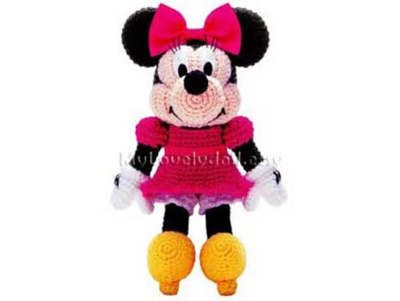 Minnie Mouse Amigurumi Crochet Pdf Pattern In English Etsy