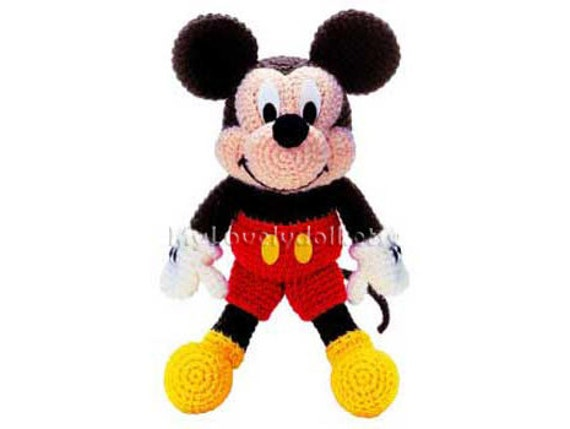 Mickey Mouse Amigurumi Crochet Pdf Pattern In English Etsy