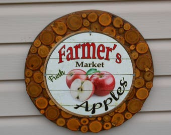 Reduced...Farmers Market Apples for Sale Sign...