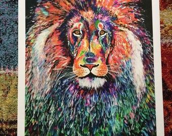 ART PRINT 'Jungle King' A2