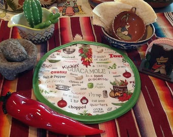Tortilla Warmer Microwaveable Quacamole Print