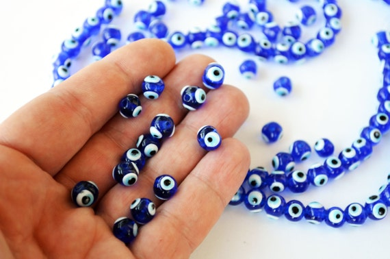 Wholesale Beads 8mm Glass Evil Eye Beads From Turkey Set Of  094634cc1193