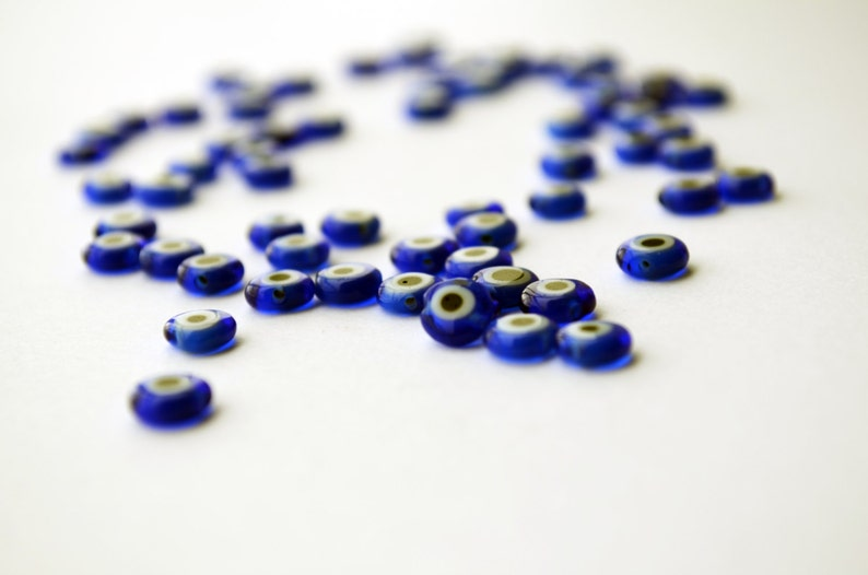 500 Pcs Cheap Beads Wholesale Blue Evil Eye 6mm Flat Glass  e6ad4e043993
