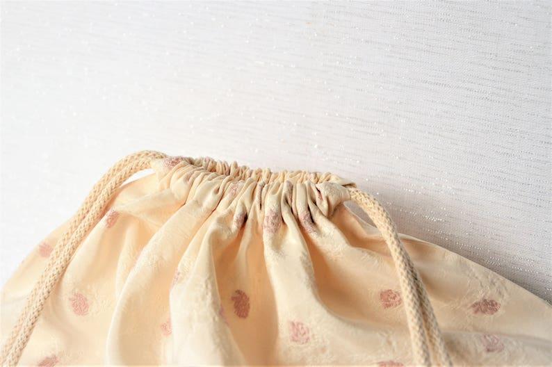 Underwashing bag with drawstring 43 x 35 cm beige
