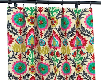 Santa Maria Desert Flower Curtain Panels, Floral Curtains, Waverly Curtain Panels,  Curtains