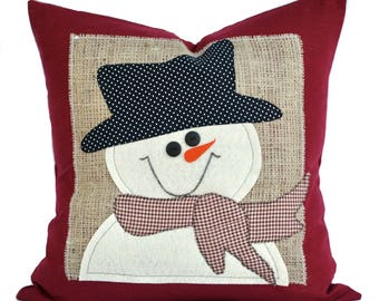snowman christmas pillow cover holiday pillow decorative pillow cushion christmas decoration