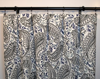 Paisley Curtains Navy Curtain 2 Panels Home Decor Premier Prints