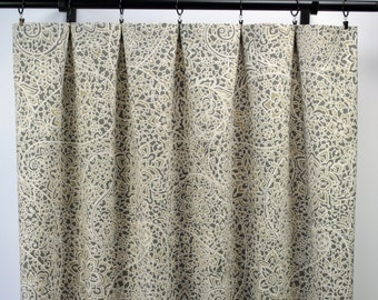Magnolia Curtains Paisley Curtain Charcoal 2 Panels Home Decor Tan