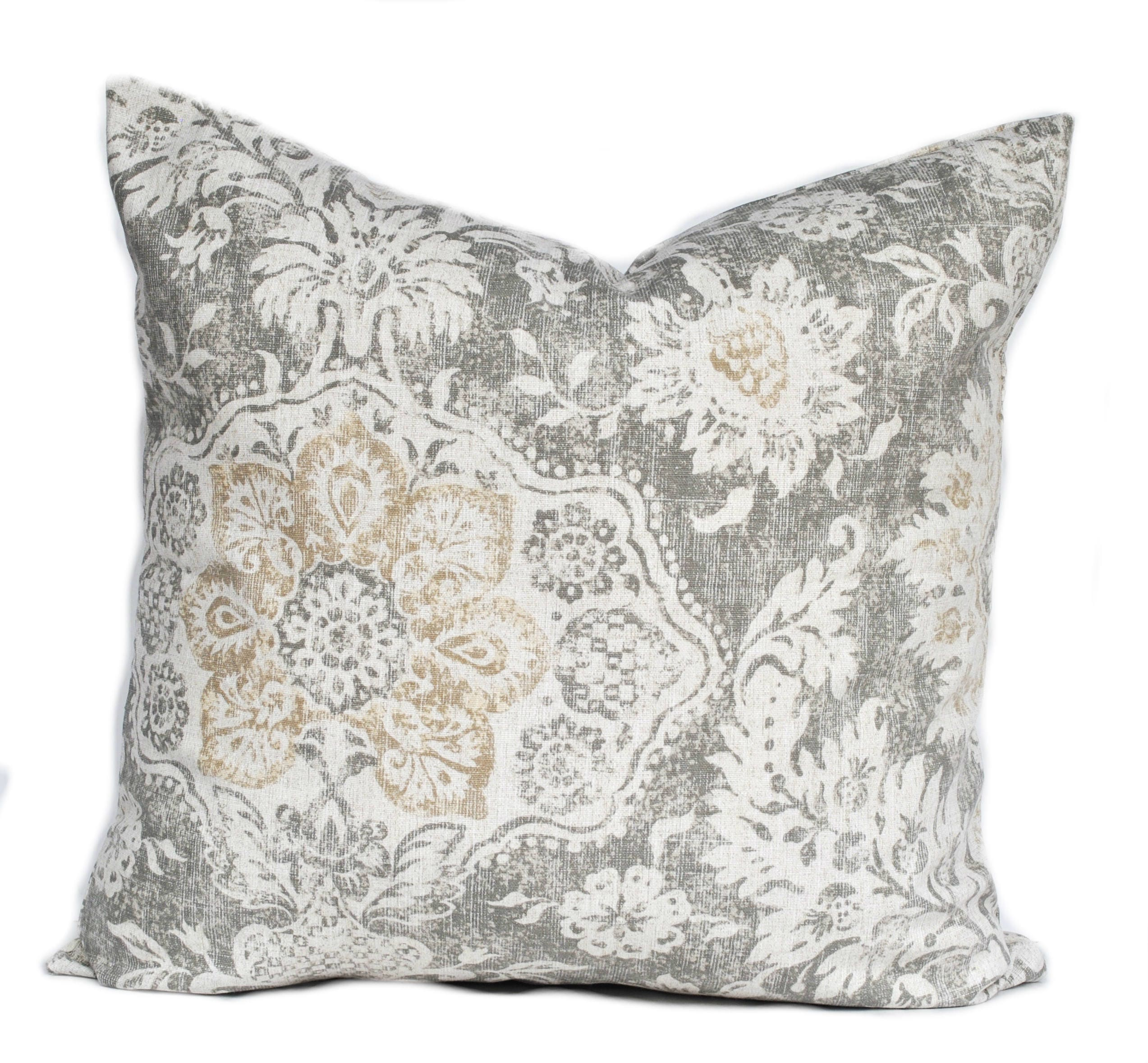 One High Quality Magnolia Pillow Cover Slate Grey Pillow