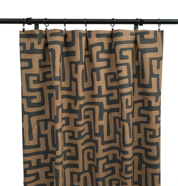 Brown Bohemian Curtains Chocolate, Black And Brown Curtains