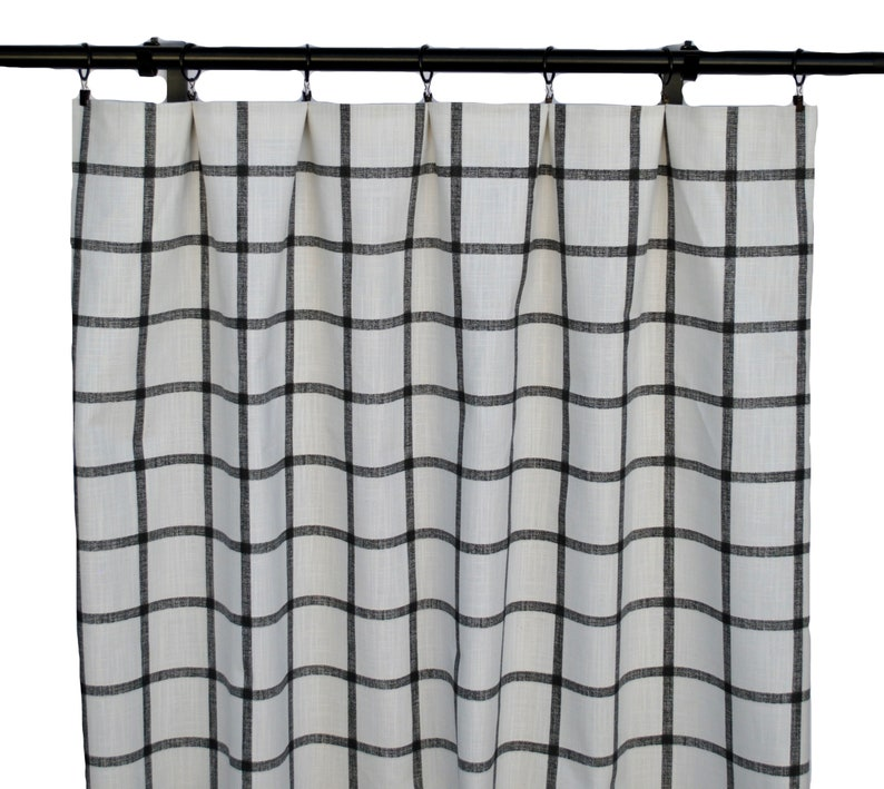 Black And White Checkered Curtains Ycheckered Curtain 2 Etsy