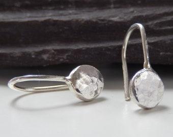 c141d323d Silver drop earrings, drop earrings, silver earrings, hammered earrings,  silver dangle earrings, handmade silver, earrings, drop earring
