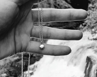 Sterling silver pendant, Silver pebble pendant, Silver jewellery, small silver pendant, pebble pendant, handmade silver jewellery, silver