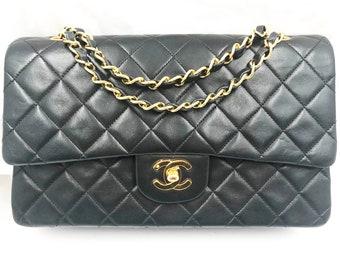 af6c42c81e75 Chanel Black Lambskin Timeless 10