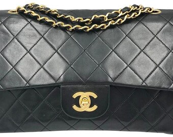 83d13ccde035a3 Chanel Vintage Classic Black Lambskin Timeless 10