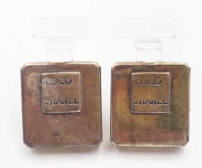 9140a7de3d85 Chanel Rare Vintage Gold Plated CoCo Perfume Bottle Large Clip   Etsy