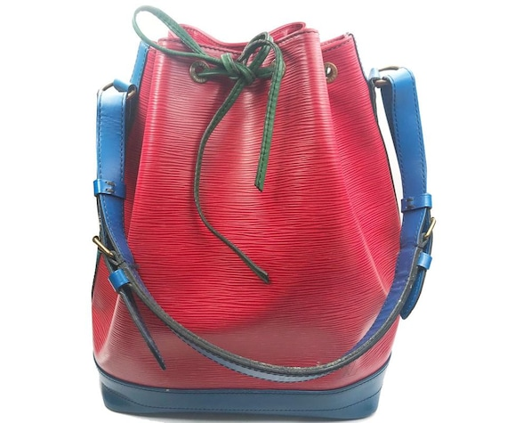 Louis Vuitton Red Blue Green Epi Leather GM Bucket