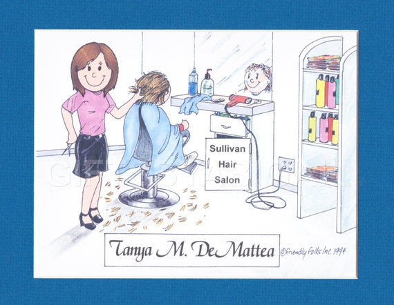 Hair Stylist Personalized Cartoon Picture Of Person Pic Gift Etsy