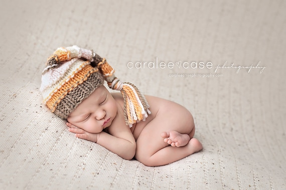 181502c68 Striped Stocking Hat for Girls / Newborn Photo Props / Photography Props /  Knitted Baby Hats / Baby Girl Gifts / Knitted Stocking Hat