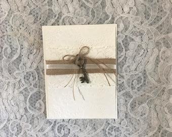 Gorgeous Love Handmade Lace CardHappy BirthdayAnniversaryAny Occasion Card