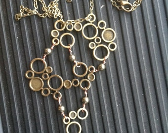 Bronze Bubbles Necklace Copper & Pyrite