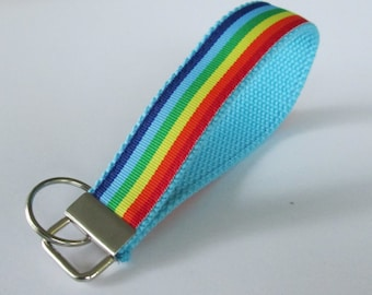 Rainbow Keychain for Women, Cool Lanyards for Women, Rainbow Keychain Lanyard, Cute Wristlet Lanyard, Cute Key Fobs