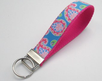 Paisley Keychain for Women, Cool Lanyards for Women, Paisley Keychain Lanyard, Cute Wristlet Lanyard, Paisley Print