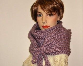 Light Lavender Purple Warm Crochet Scarf, Gift for Women,Winter Crochet Scarf, Winter Womans Scarf, Knit Scarves, Fall Scarf, Kristin B4-001