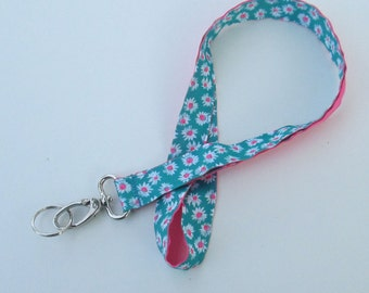 Flower Lanyard Keychains for Women, Cool Lanyards for Keys, Id Badge Holder Necklace Lanyards, Cute Lanyards for Badges, Floral Lanyard
