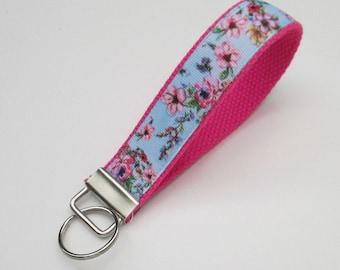 Flower Lanyard Keychain for Women, Cool Lanyards for Women, Flower Keychain Lanyard, Cute Wristlet Lanyard, Cute Key Fobs