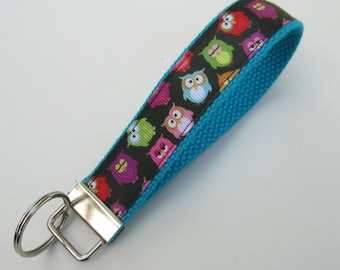 Owl Keychain for Women, Cool Keychains for Women, Owl Keychain Lanyard, Cute Wristlet Lanyard, Cute Key Fobs, Cute Owl Keychains