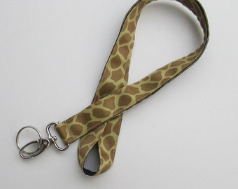 Giraffe Print Lanyard Keychains for Women, Cool Lanyards for Keys,Id Badge Holder Necklace Lanyards, Cute Lanyards for Badges