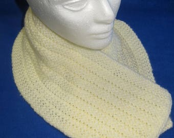 Off White Ribbed Scarf