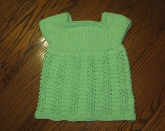 Light Green Newborn Lace Dress