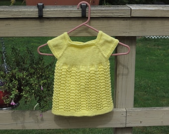 Light Yellow Newborn Lace Dress