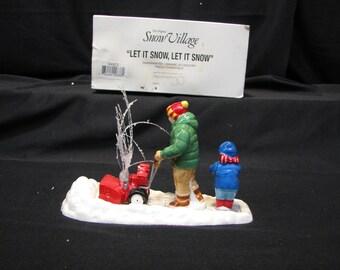 """DEPT 56 Snow Village """"Let It Snow, Let It Snow"""", #54923"""